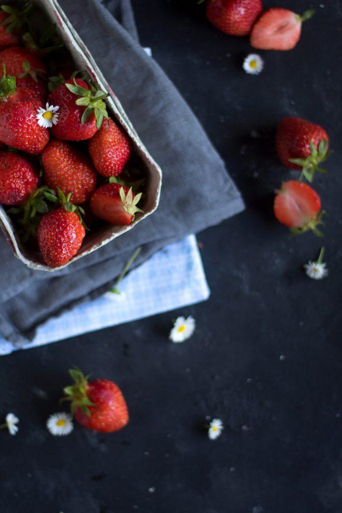 Rezept für Erdbeerroulade