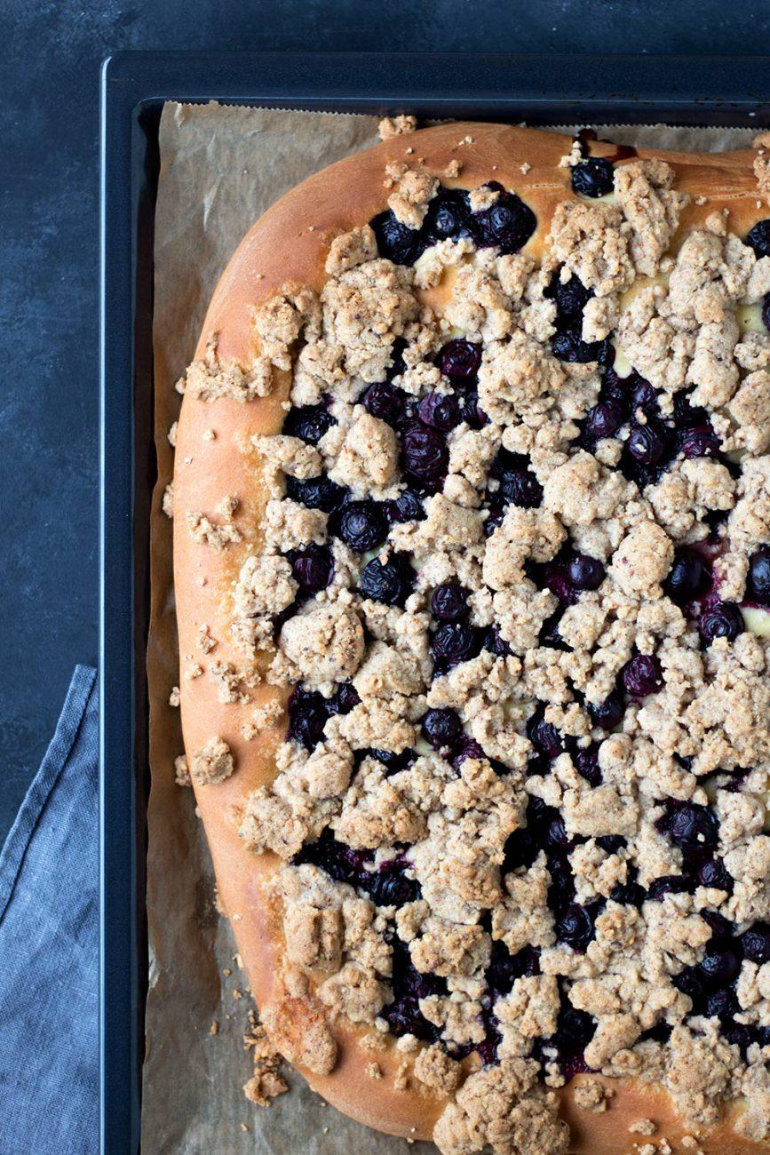 Rezept für Blaubeer-Streuselkuchen