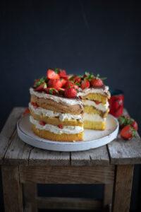 Rezept für Erdbeer Tiramisu Torte
