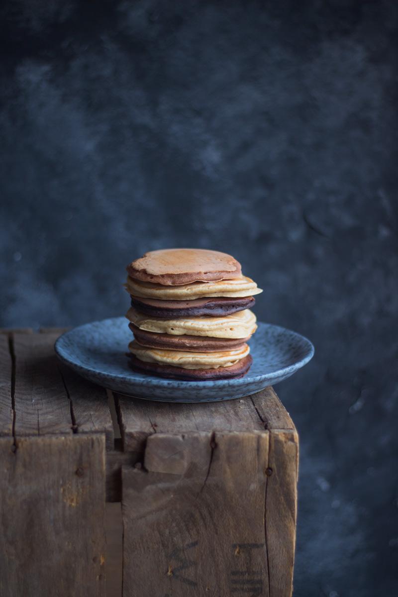 Vegane Ombre Pancakes