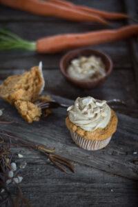 Rezept für vegane Karottenmuffins