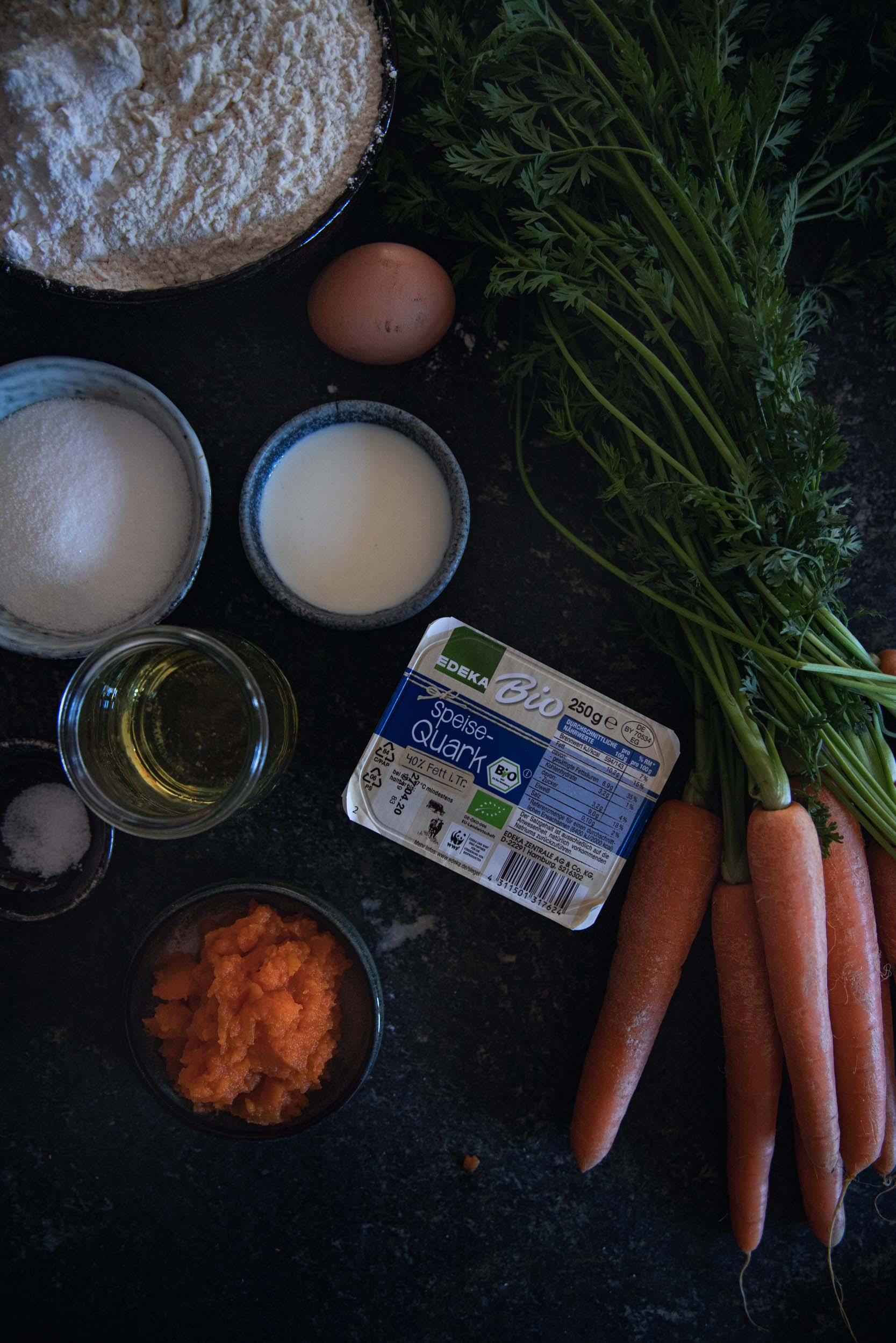 Rezept für Karotten ZImtschnecken (Werbung)