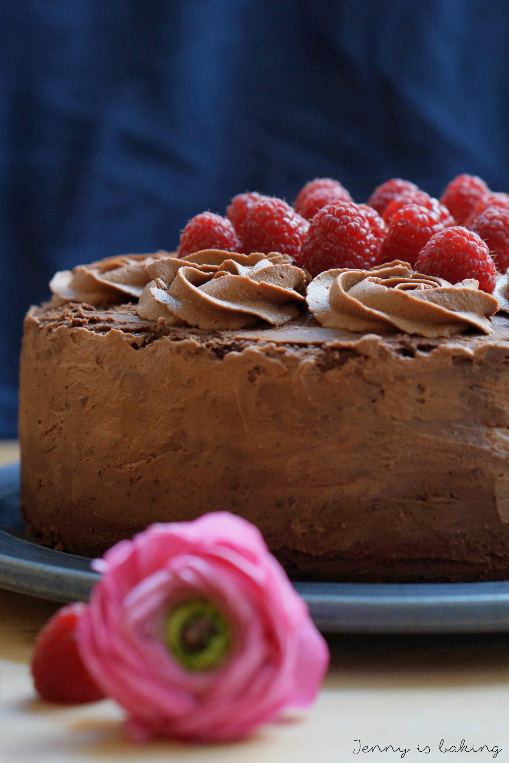 Rezept für Schoko Torte mit Himbeeren von Jenny