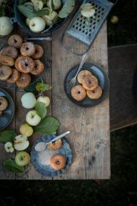 Rezept für Apfel Donuts