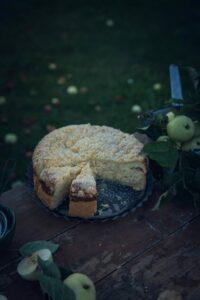 Rezept für Apfel Käsekuchen mit Streusel