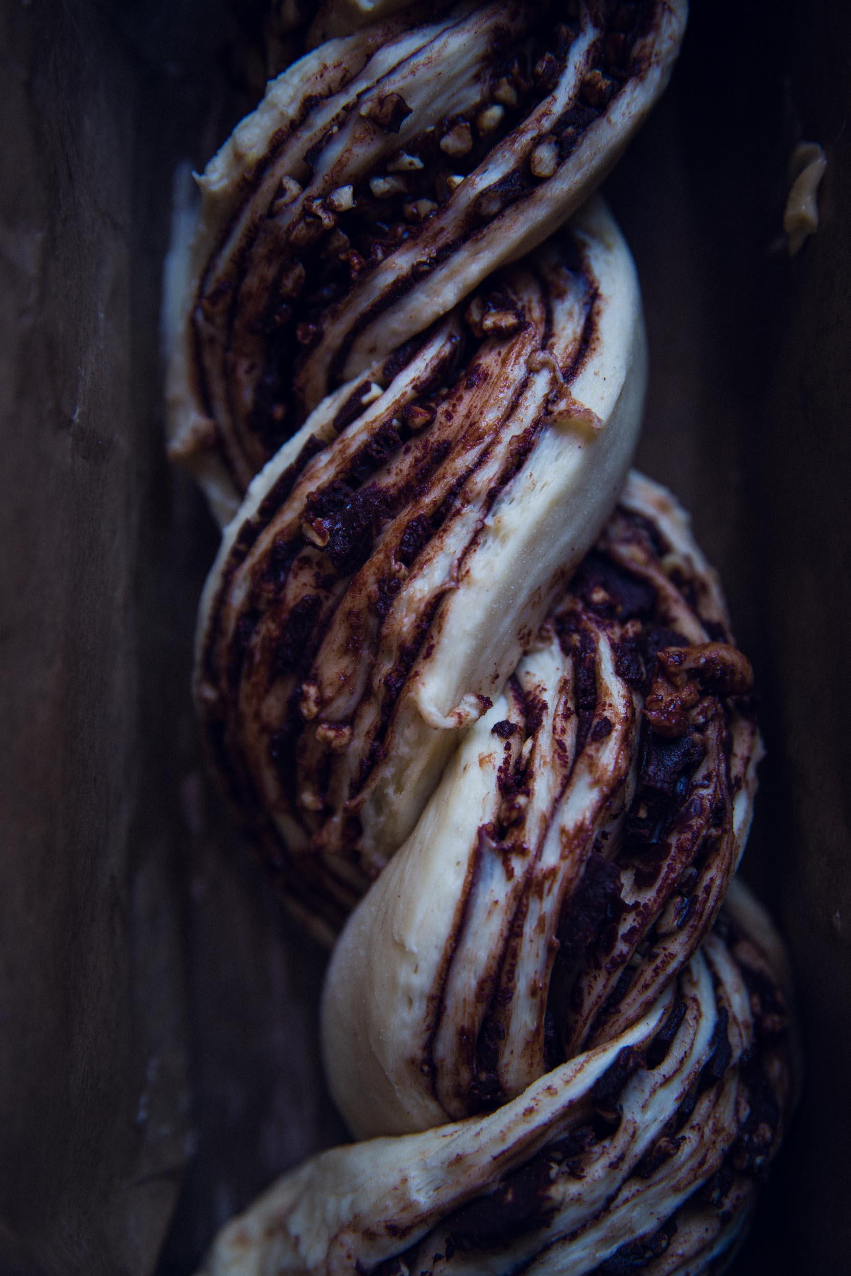 Rezept für Schokoladen und Beeren Babka