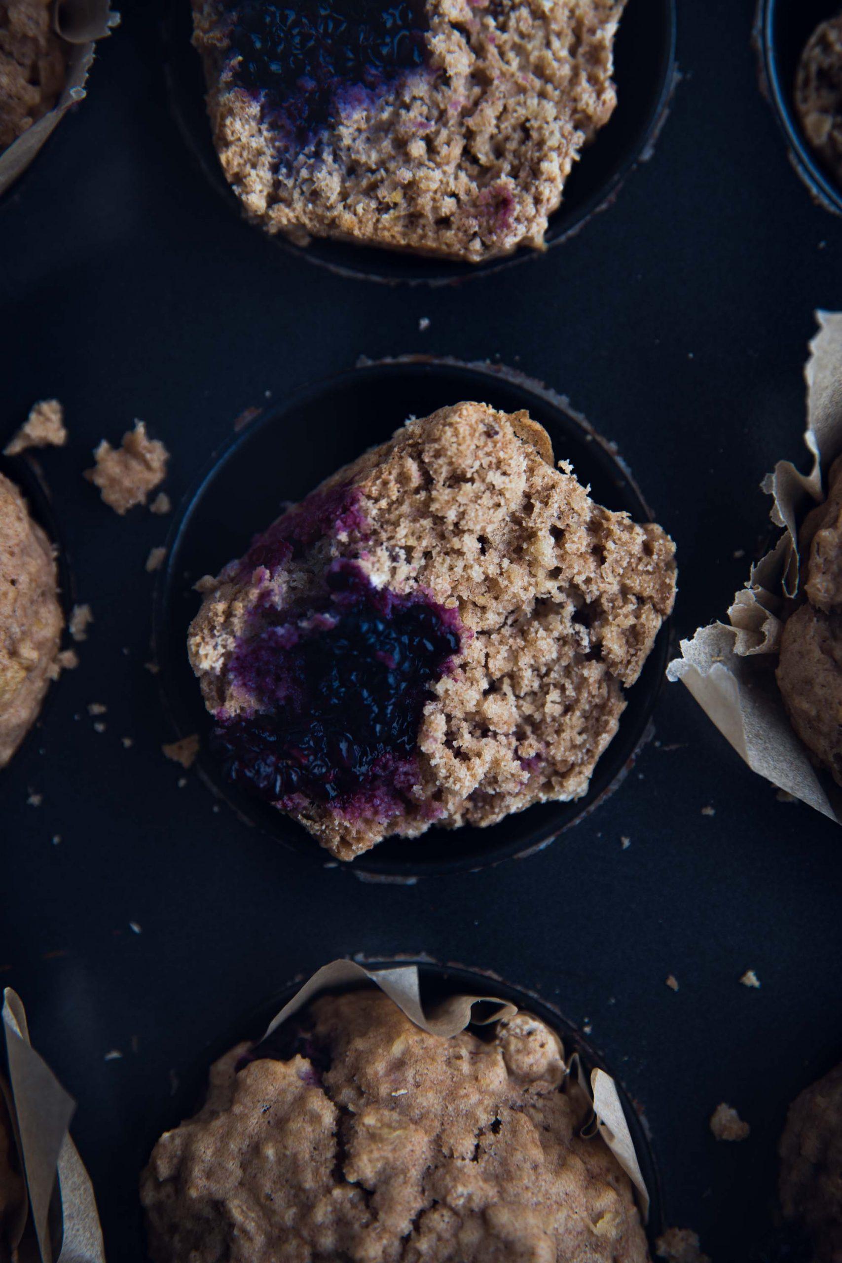 Rezept für gesündere Beeren Muffins