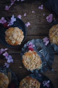 Himbeer Muffins mit Streusel