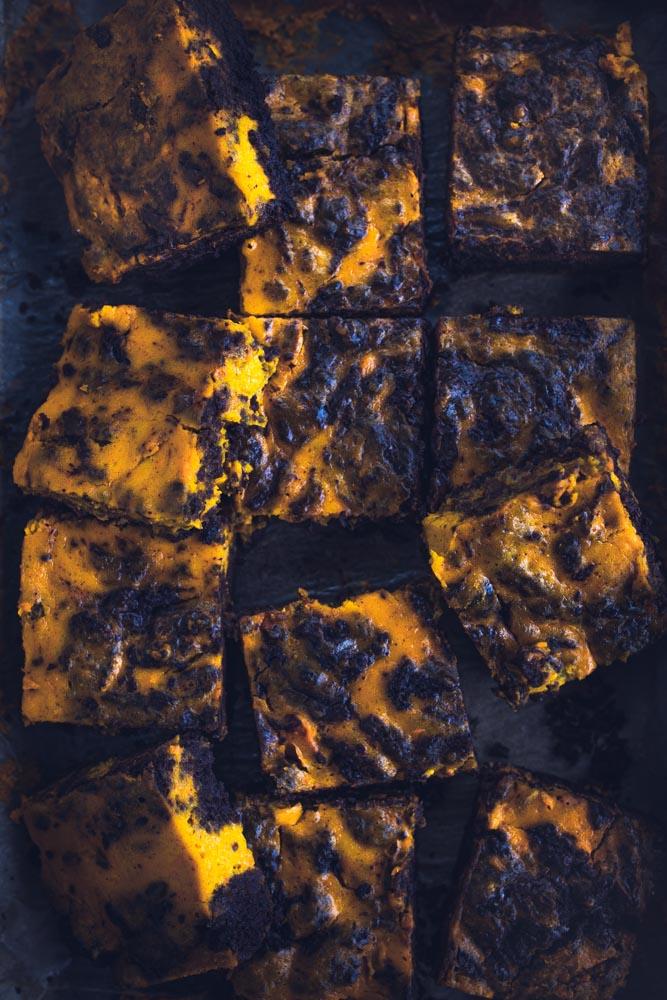 Rezept für die saftigsten Schoko Kürbis Brownies